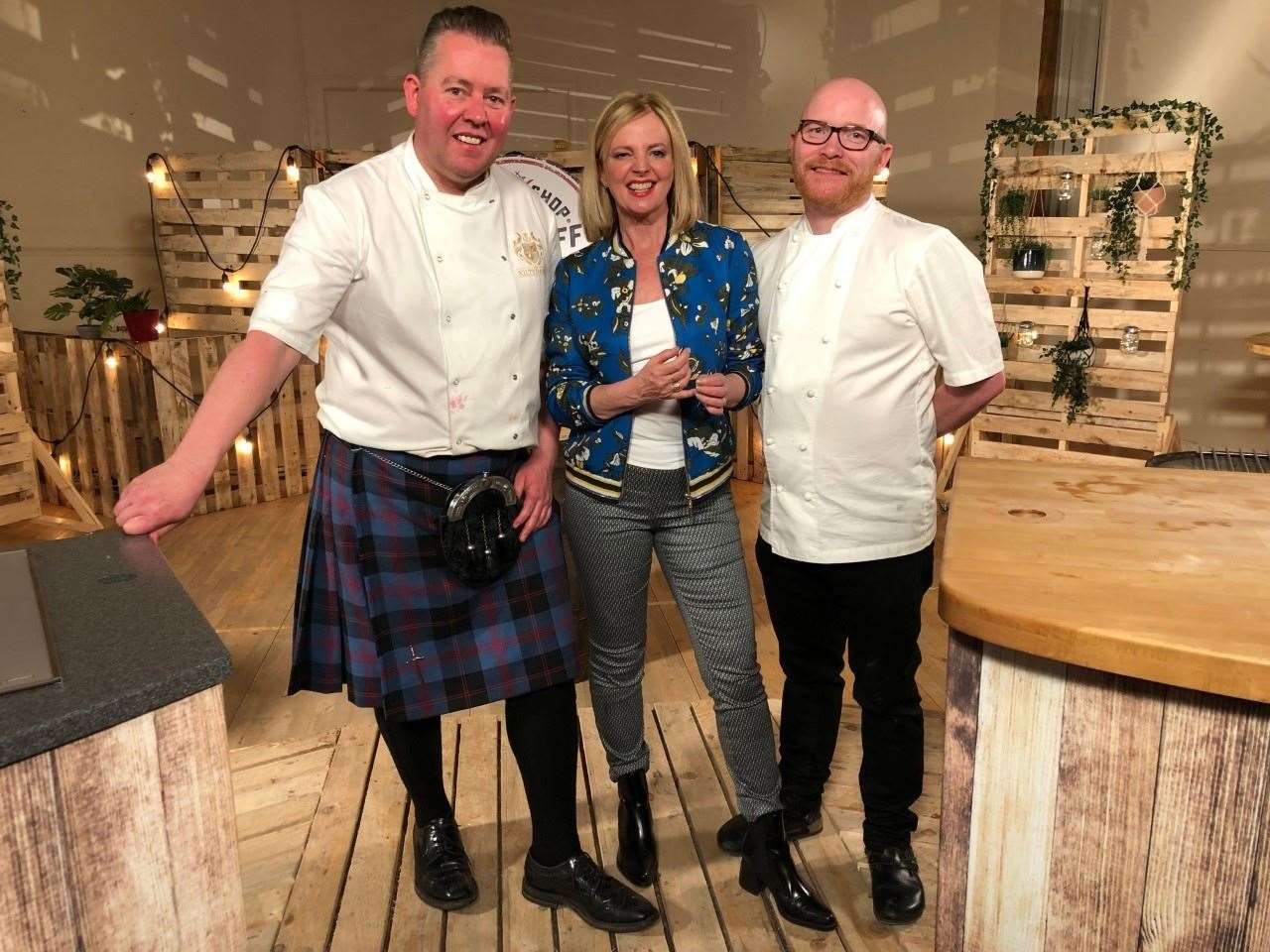 Craig Wilson with Claire Grogan and Gary Maclean