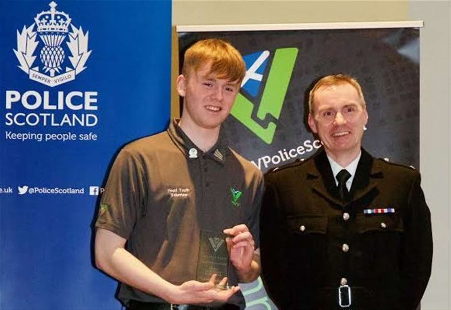 Police recognise contribution of north-east teens