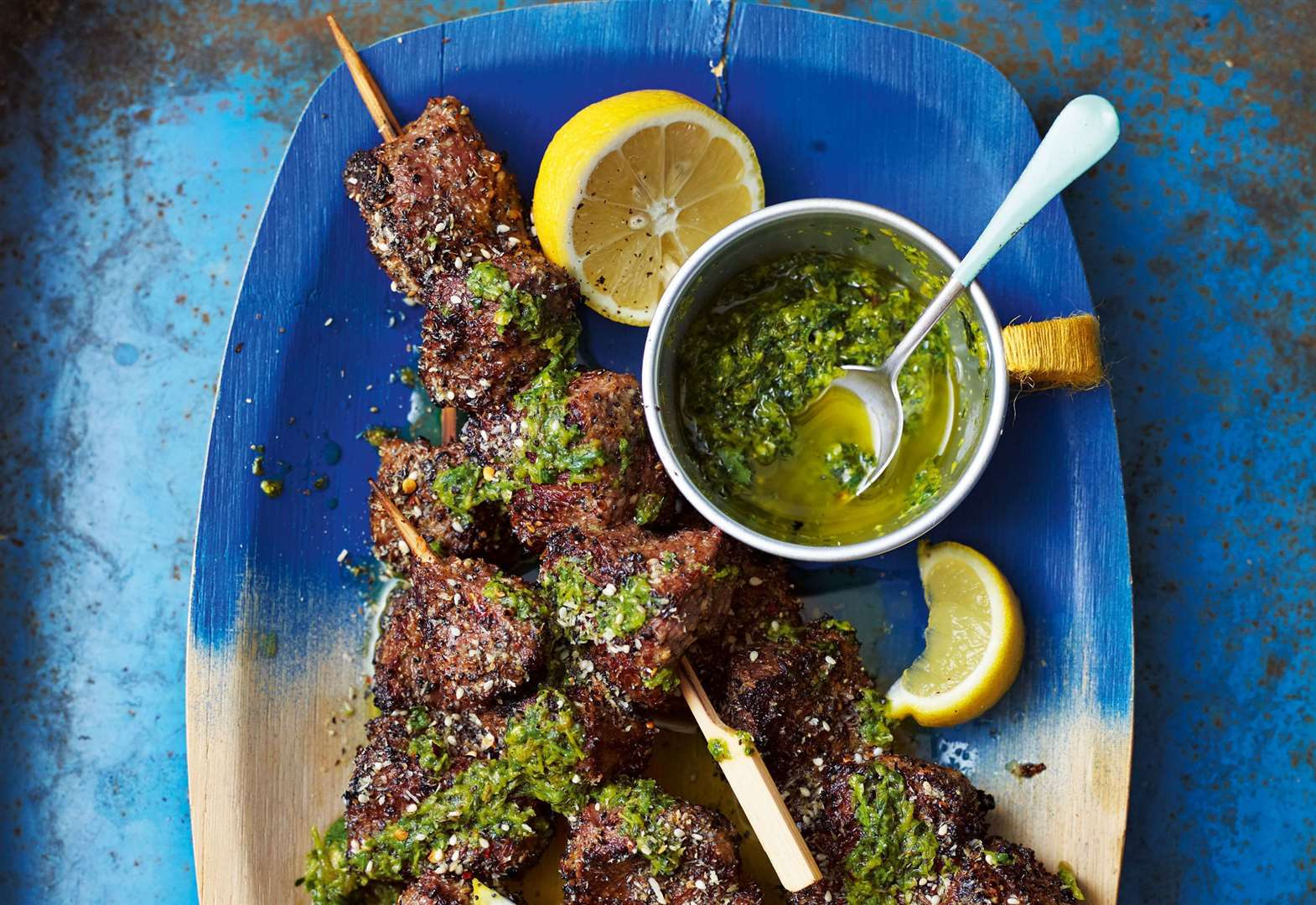 Recipe of the week: Ainsley Harriott's poppy and coconut beef kebabs with roasted chilli salsa