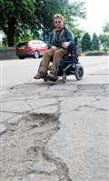 Wheelchair user's pavement horror
