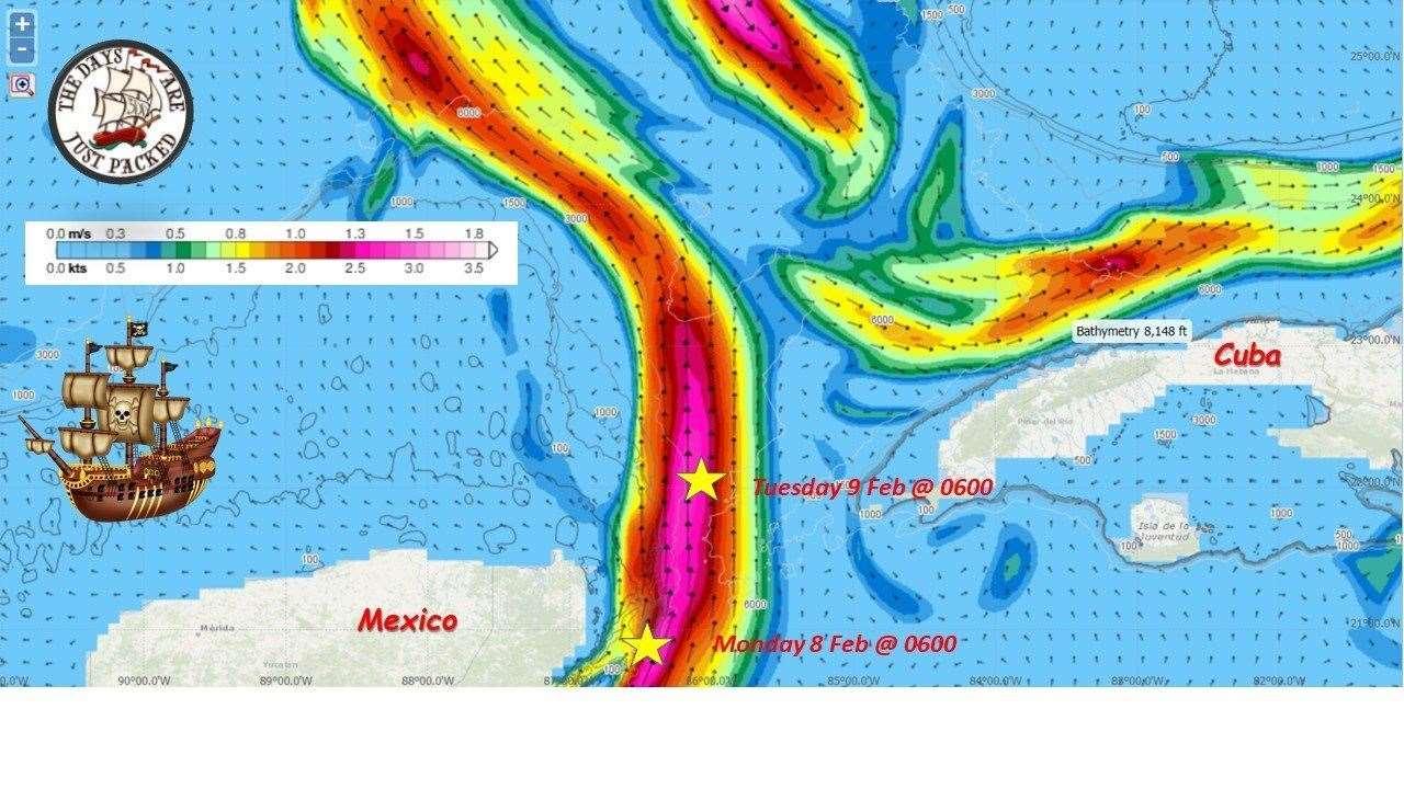 El barco ya había cruzado Cuba en la mañana del martes