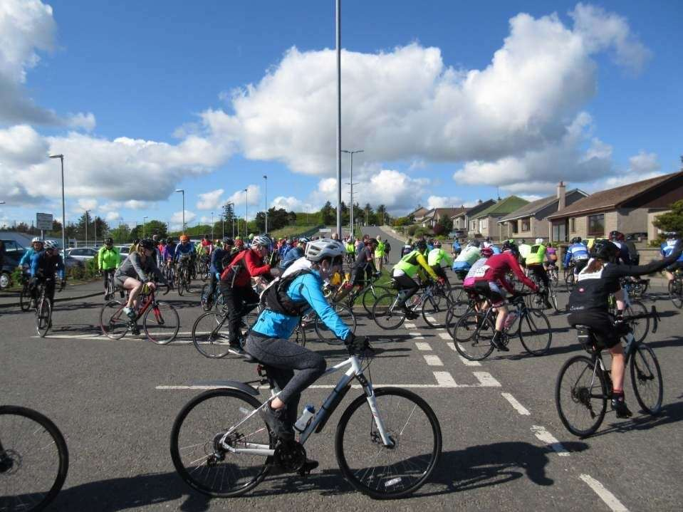 The Banffshire Cycle Challenge will start from the Whinhill Road parking lot at the Deveron Community Sports Center in Banff.
