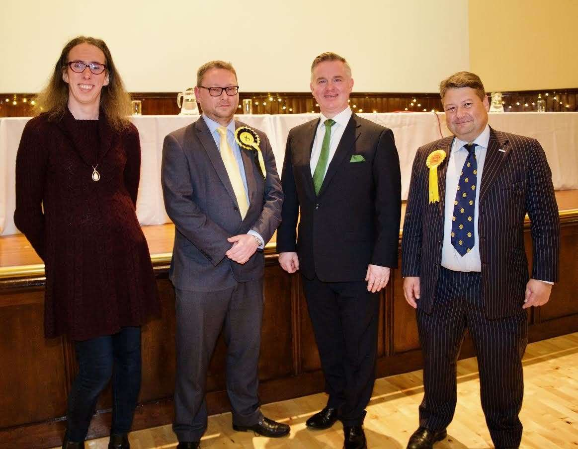 Candidates for Gordon constituency Heather Herbert, Richard Thomson, Colin Clark and James Oates. Picture: Phil Harman