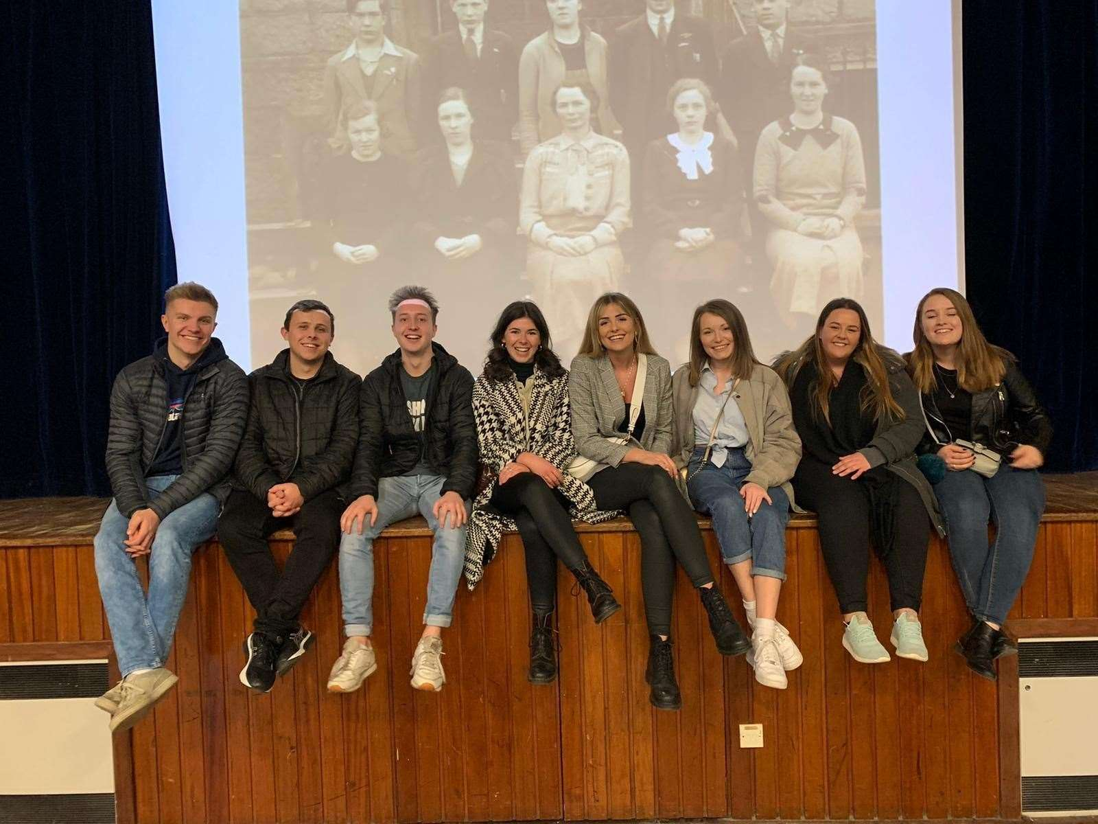 Fomer pupils got together during the tours including members of the class of 2014.