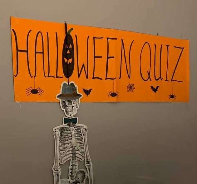 A Halloween quiz was part of the programme of events.