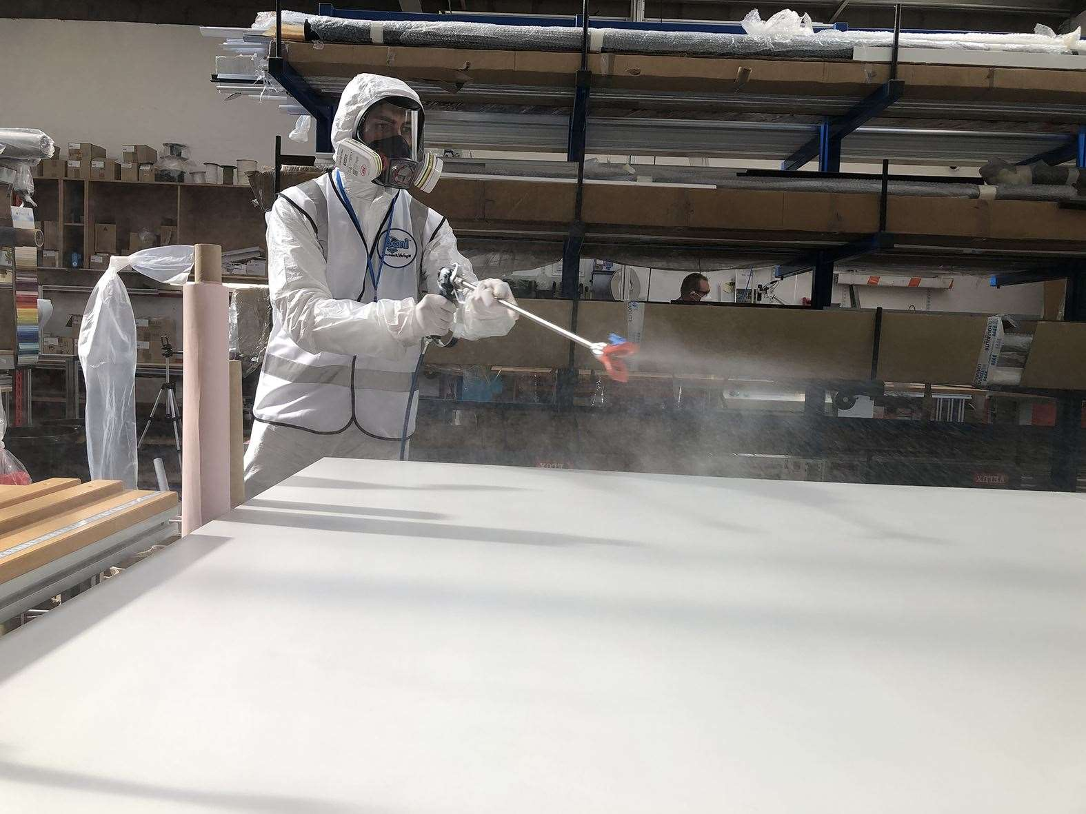 Fogging is the process of spraying a surface in the protective coating.