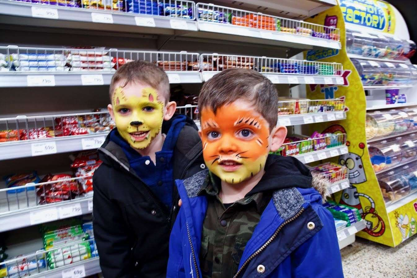 Face painting was popular. Picture: Phil Harman