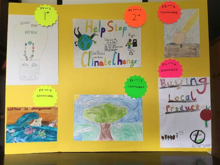 Schools in the Udny area took part in the art competition.