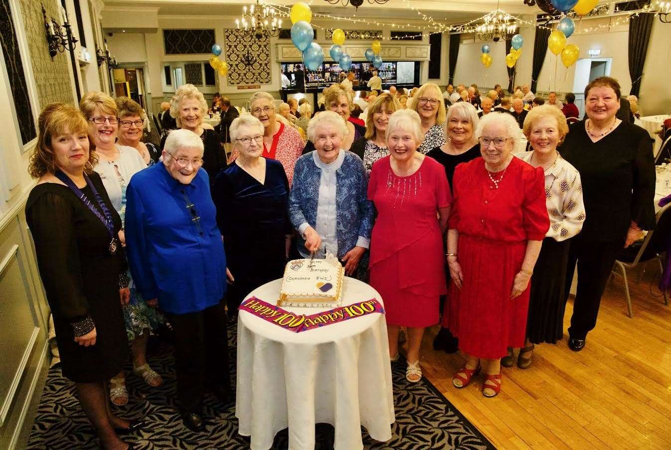 Members of Cairnorrie SWI celebrated their centenary. Picture: Phil Harman