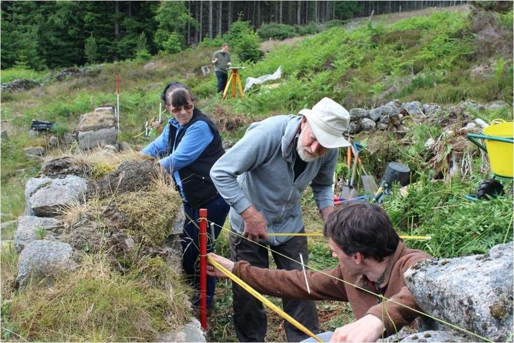 The dig was a joint project between the Bailies of Bennachie and the University of Aberdeen.