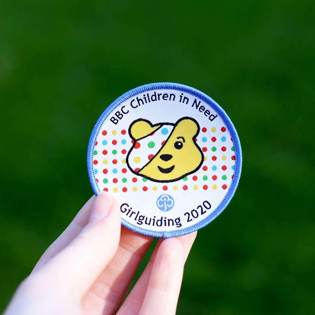 Girlguiding's Children In Need badge.