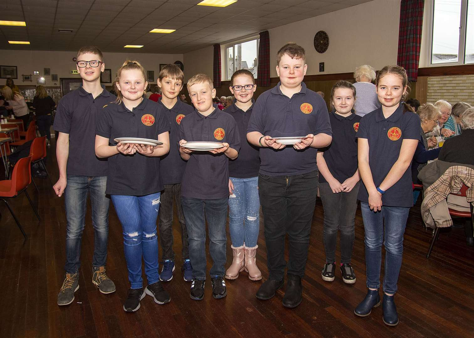 The young band members helping away at the Turriff Pipe Band Soup and Sweet which was a roaring success. Picture: George Murdoch