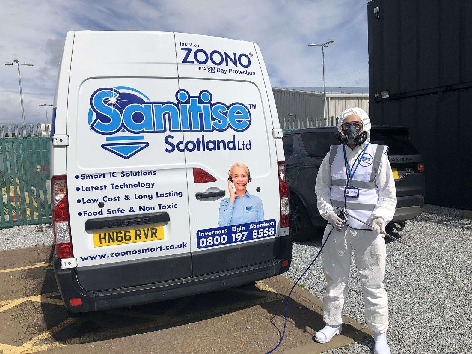 Sanitise Scotland has launched with two vans in the road and expansions plans could increase this to 10 in the near future.