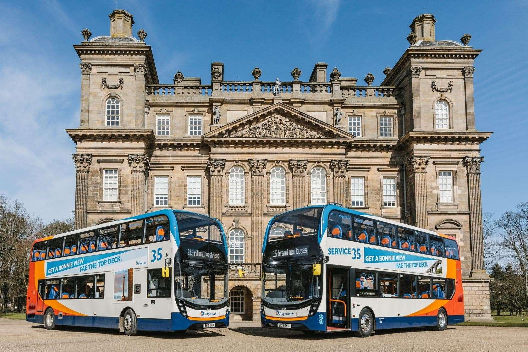 Stagecoach North Scotland launched its new buses at Duff House in Banff.