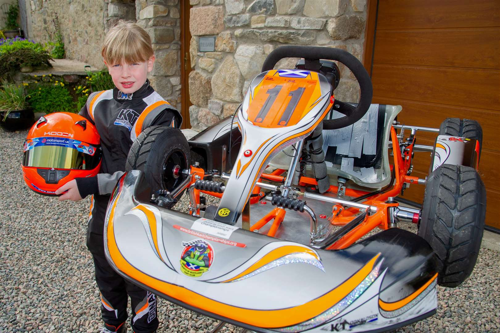 Go Kart ace Katie Donaldson has been chosen to be a 'Grid Kid' at the upcoming British Grand Prix.