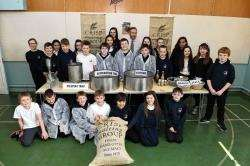 Portgordon pupils get to grips with the ins and outs of the malting process.