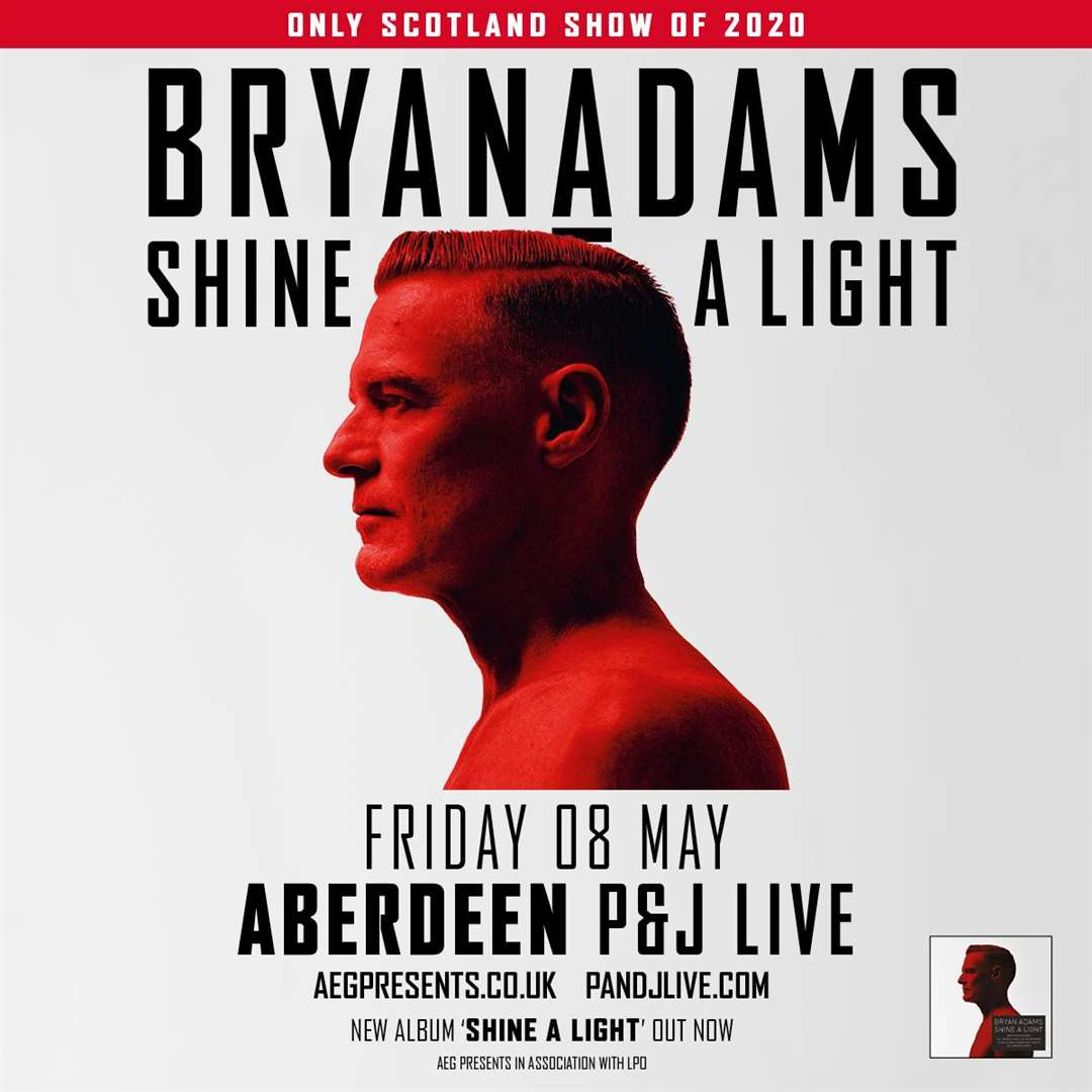 Bryan Adams comes to Aberdeen