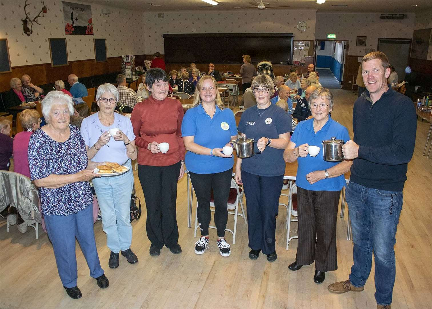 Volunteers from the Turriff Royal British Legion and Friends of Turriff Cemetery served teas and coffees at the Legion's fundraiser. Pic: George Murdoch