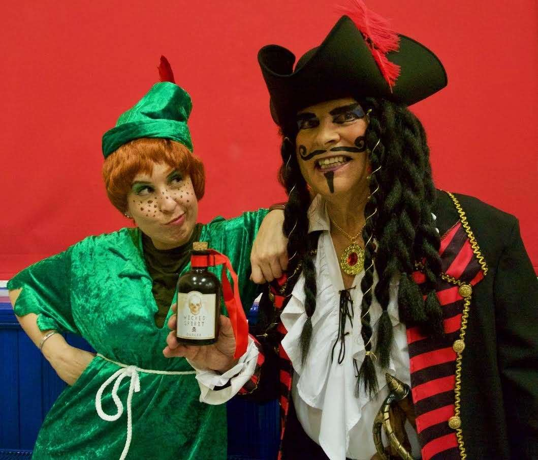 This year's pantomime is Peter Pan, with the title role played by Fiona Cochrane and Gordon McCombie playing Captain Hook. Picture: Phil Harman