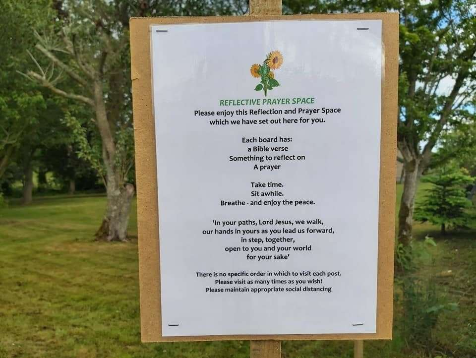 Methlick Parish has created a Pryaer Walk within its grounds