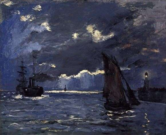 Claude Monet's painting 'Shipping by Moonlight'