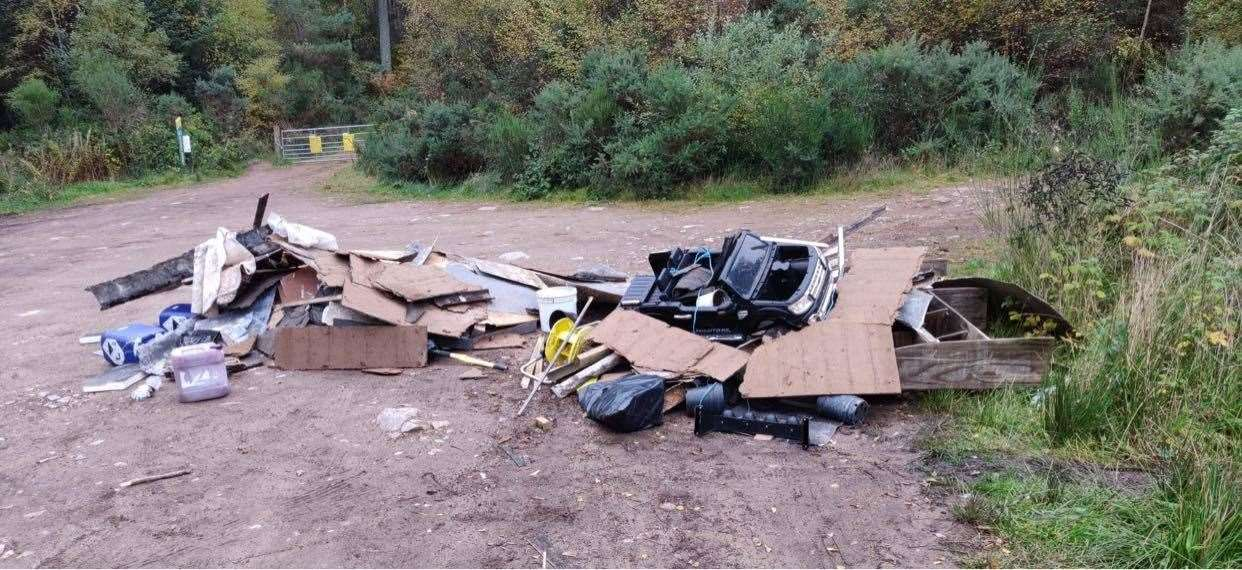 Fly tipping continues to be an issue in Aberdeenshire.
