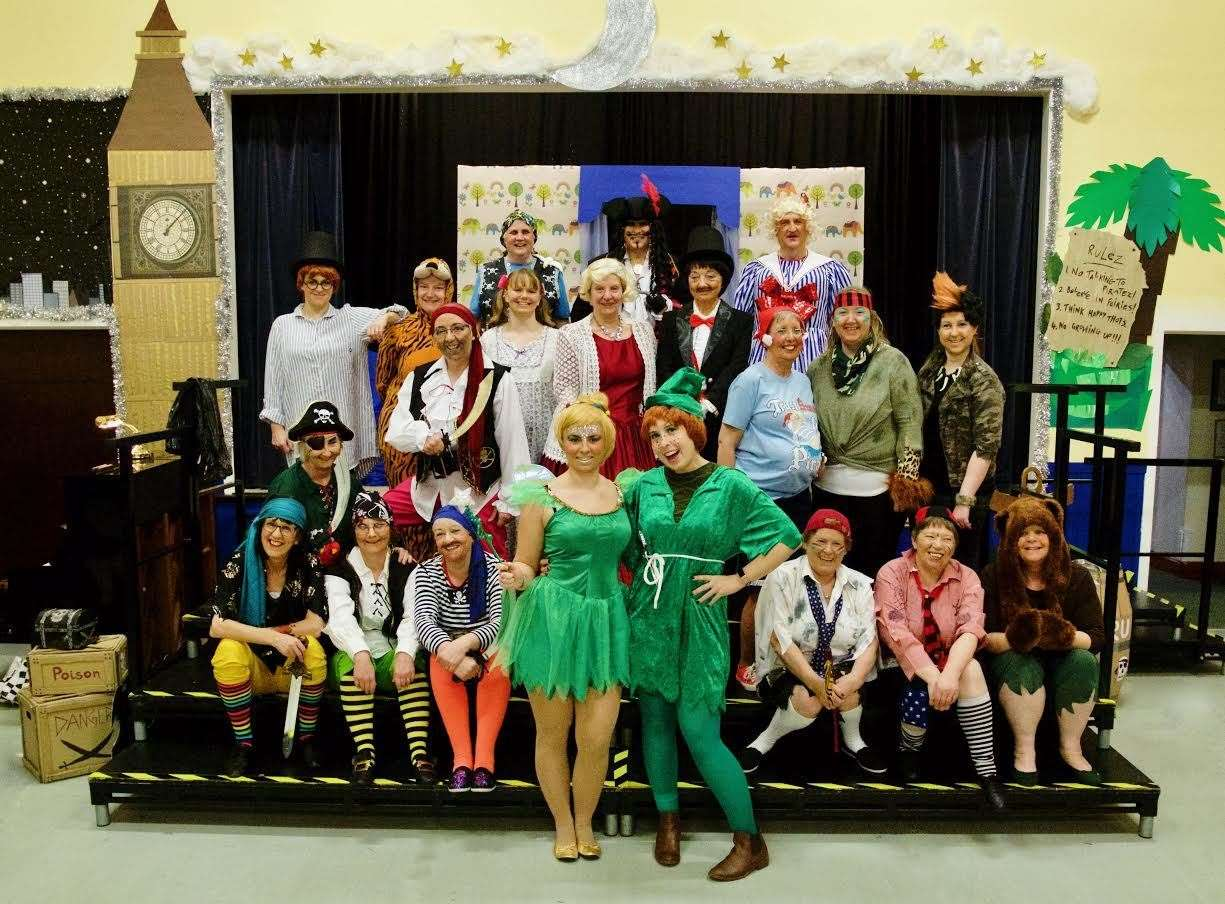 The cast of this year's Ellon Pantomime. Picture: Phil Harman