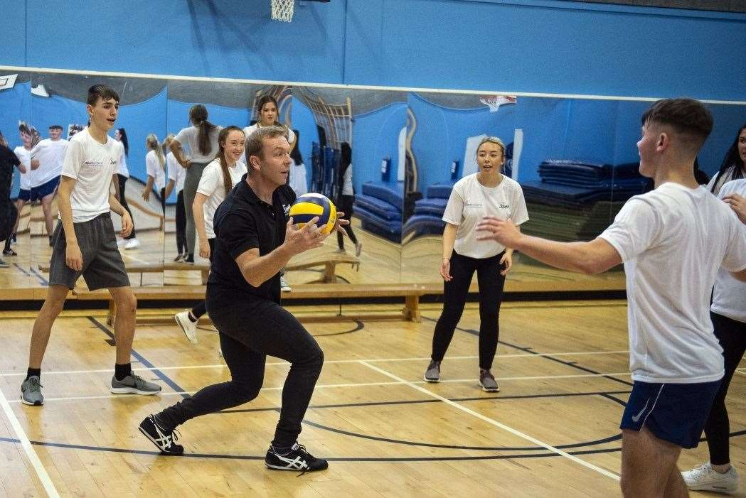 Sir Chris Hoy launched the new partnership between Active Schools and SAMH.