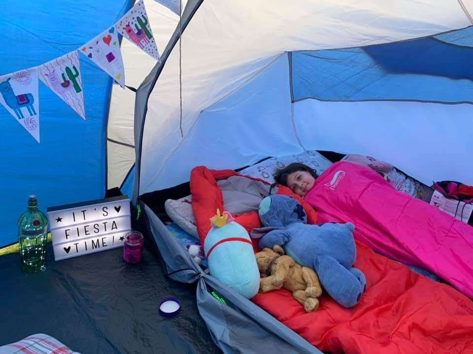 Ava Murray (9) from 1st Keith Brownies got into the camping spirit.