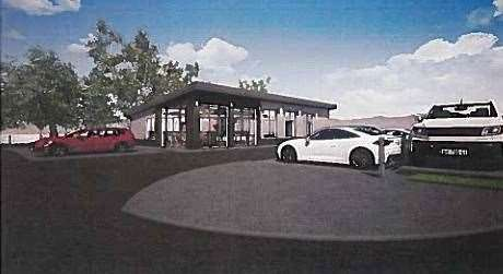 Plans have been approved for a new retail premises in Blackburn which would include a large electric vehicle charging station.