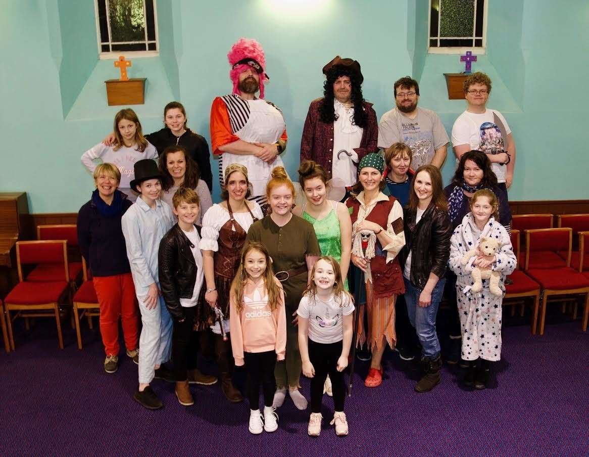 The cast of this year's Udny and Pitmedden Panto are ready to entertain local audiences. Picture: Phil Harman