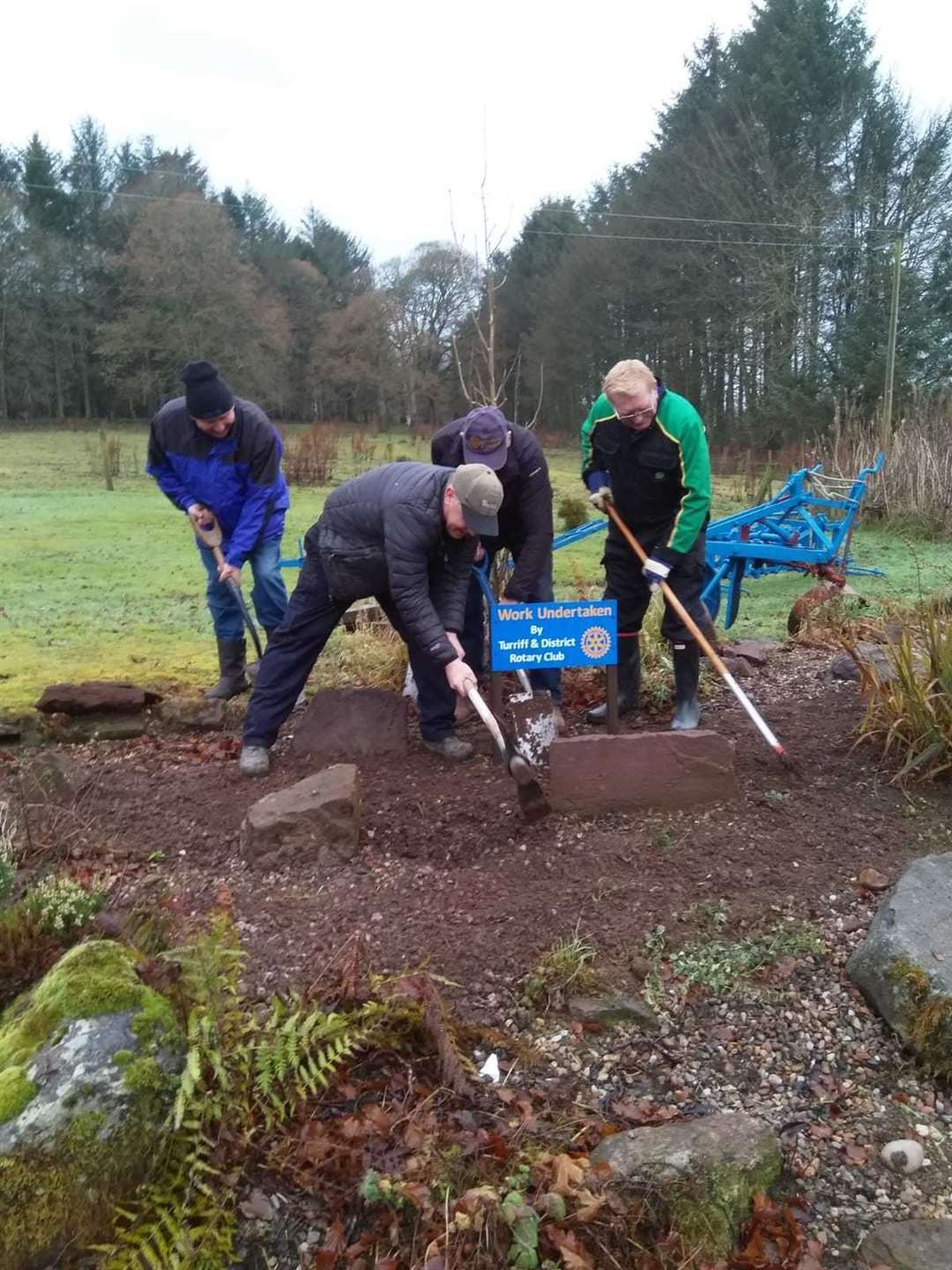 Members planted around 4000 bulbs at Delgatie.