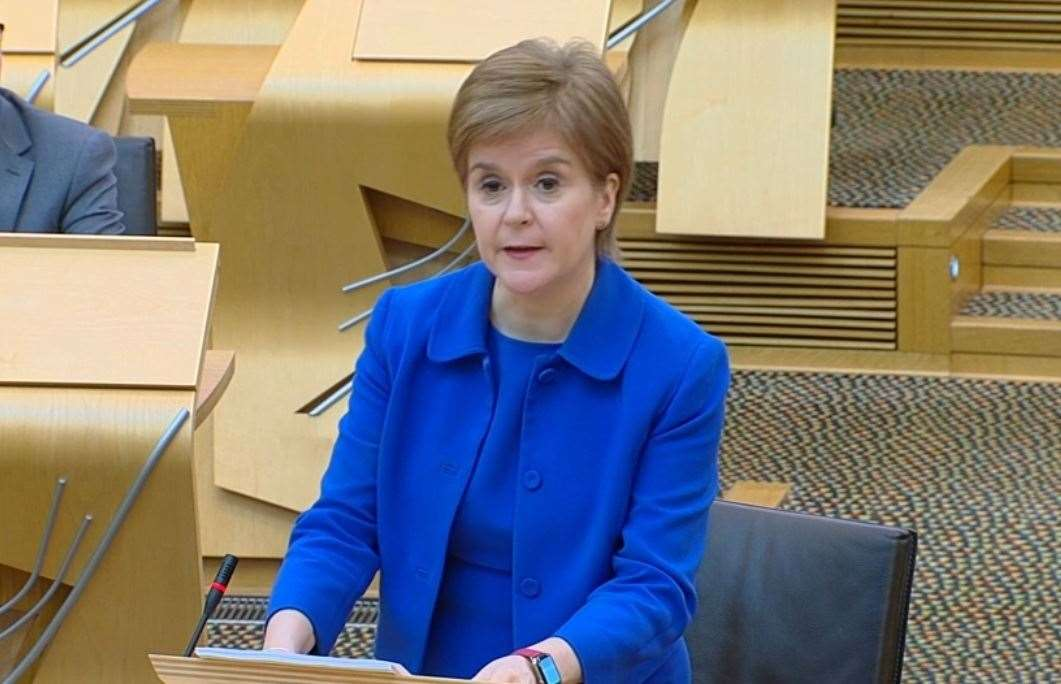 First Minister outlines her routemap for lockdown easing in Scotland