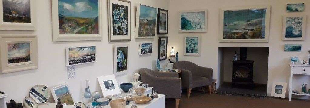 The A Bit of Blue exhibition opened at the Country Frames Gallery.